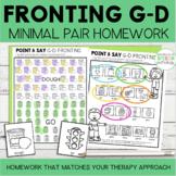 Fronting Minimal Pairs Homework   G-D Initial Words   Spee
