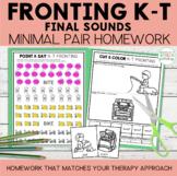 Fronting Minimal Pairs Homework | K-T Final Words | Speech