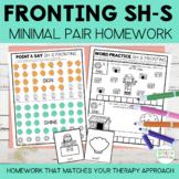 Fronting Minimal Pairs Homework | SH-S Initial Words | Spe
