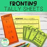 Fronting Minimal Pairs Tally Sheets