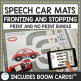 Fronting and Stopping Speech Car Mats Print and No Print