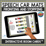 Fronting and Stopping Speech Therapy Car Mats Interactive Boom Cards
