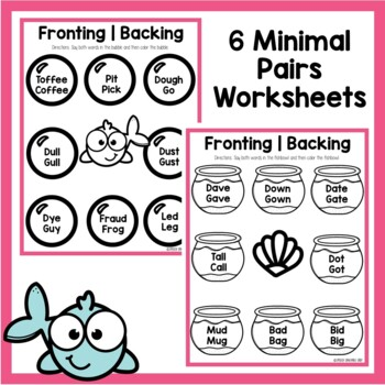 Fronting or Backing Minimal Pairs
