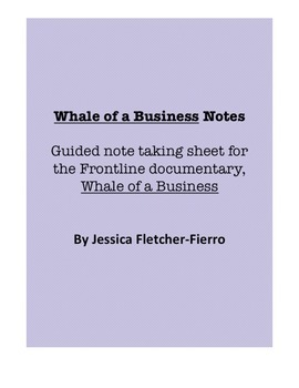Frontline: Whale of a Business Movie Notes