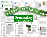 Frontloading Text Set -OR- Web Quest for Touching Spirit Bear