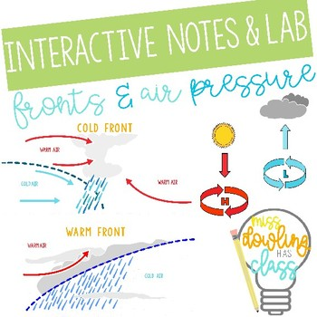 Fronts and Air Pressure--Foldable and Experiement