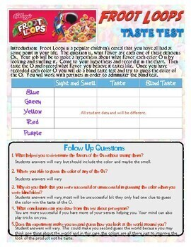 Froot Loops Sensation Psychology Activity