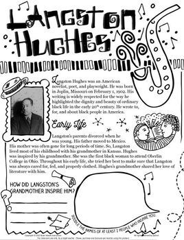 Frost, Angelou, Hughes, and Dickinson – Poet and Poem Studies - Doodle Notes