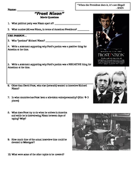 Frost-Nixon Movie Questions