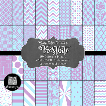 12x12 Digital Paper - Dual-Color Collection: Frostbite
