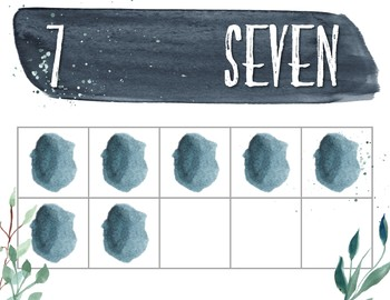 Frosted Blues Watercolor Number Posters