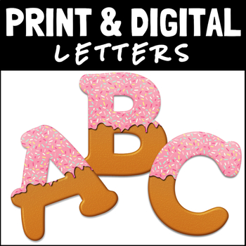 Frosted Cookie Letters