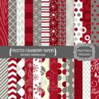 Frosted Cranberries Paper Pack