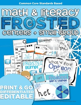 Frosted Math and Literacy | Centers and Small Group Materials | Differentiated