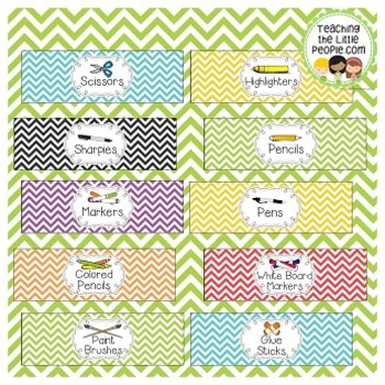 Frosting Container Labels for School Supplies