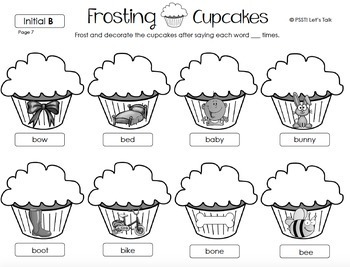 Frosting Cupcakes - Articulation & Language