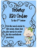 Frosty ABC Order to the 2nd Letter
