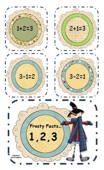Frosty Fact Families! Winter themed worksheets and centers