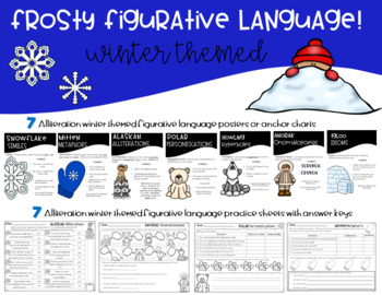 Frosty Figurative Language Winter Themed