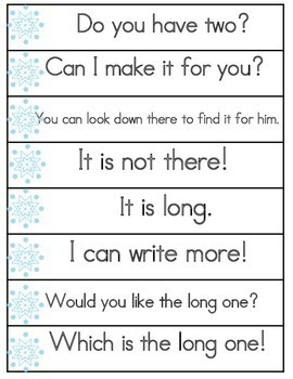 Winter Activities Sight Word Fluency Phrases for 1st 100 Fry Sight Words