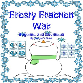 Fraction Games - Frosty Fraction War - Beginner and Advanced!