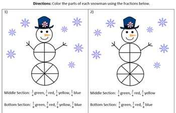 Frosty Fractions Bundle Activity