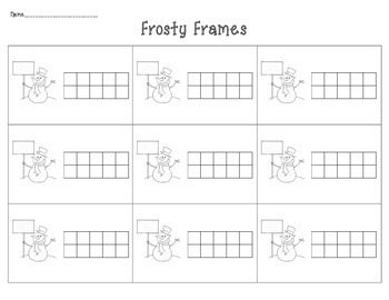 Frosty Frames: Ten Frames and Teen Frames
