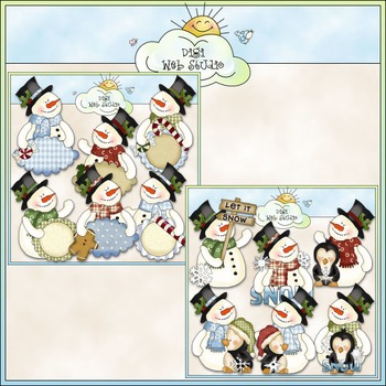 Frosty Fred Clip Art Bundle - 2 Colored Clip Art Sets