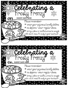 Frosty Frenzy note home