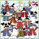 Frosty Friends 1 - Commercial Use Clip Art & Black & White Images