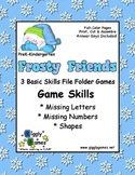 Frosty Friends Basic Skills File Folder Game Book