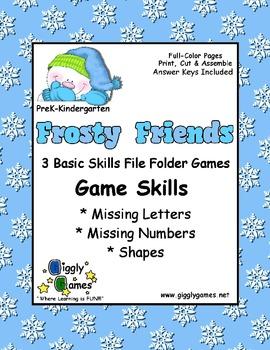 Frosty Friends Basic Skills File Folder Game Book