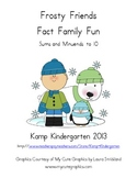 Frosty Friends Fact Family Fun Number Bonds to 10