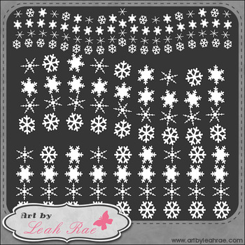 Frosty & Friends Snowflake Borders 1 - Art by Leah Rae Clip Art & Digi Stamps