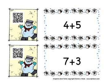 Frosty Fun Addition with QR Codes