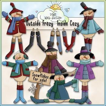Frosty Long Stockings Clip Art - Snowman Clip Art - CU Cli