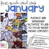 First Grade Word Work January