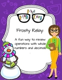 Operations with whole numbers and decimals : Frosty Relay