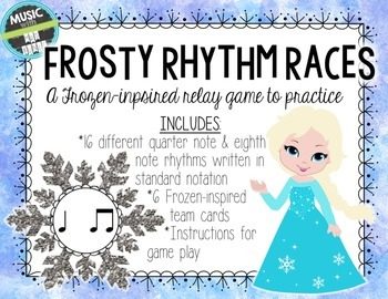 Frosty Rhythm Race: A Frozen -inspired relay game for ta and titi