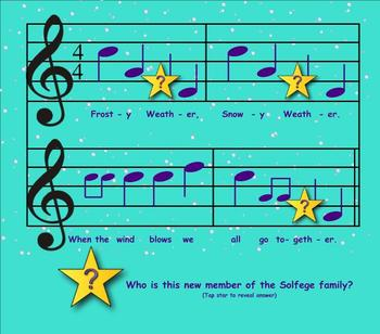 "Frosty Weather:  A Song To Prepare For New Note ""Re"""