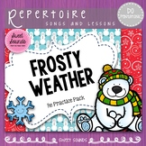 Frosty Weather Do Pentatonic Scale Melody Practice Activities