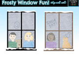 Frosty Winter Window Clip Art Set