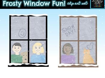 Frosty Window Fun Clip Art Set