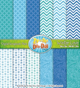 Snowflake Winter Digital Scrapbook {Zip-A-Dee-Doo-Dah Designs}