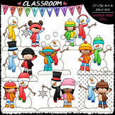 Frosty and Friends Clip Art - Kids / Snowman Clip Art