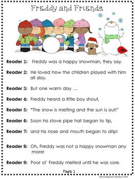 Snowman Readers Theater