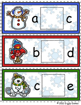 Frosty and Friends Missing Letter Envelope Center