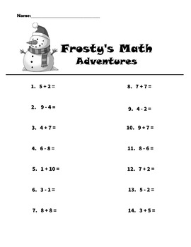 Frosty's Math Adventures