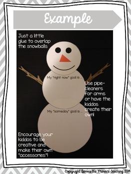 "Frosty the ""Goal-Man"" Craftivity"