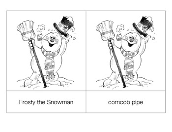 Frosty the Snowman 3-part cards